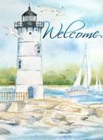 East Coast Lighthouse portrait I-Welcome Framed Print
