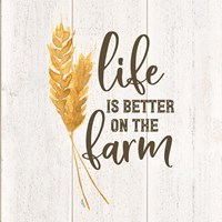 Farm Life V-Better on the Farm Framed Print