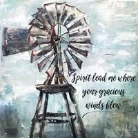 Primitive Windmill Fine Art Print