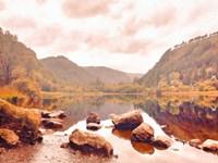 Lakeside in Autumn Fine Art Print