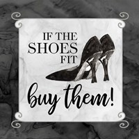Fashion Humor V-Shoes Fit Framed Print
