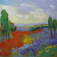 Poppy Field Valley Fine Art Print