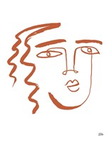 Making Faces V Terracotta Fine Art Print