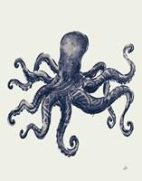 Ocean Finds III Navy Fine Art Print