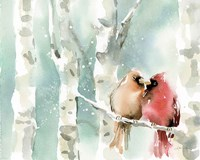 Christmas Cardinals Fine Art Print