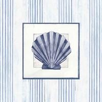 Sanibel Shell I Navy Fine Art Print