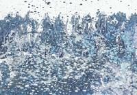 Blue Distant Slashes Framed Print
