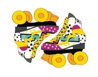 Graffiti  Rollerblades Fine Art Print