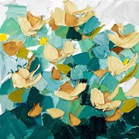 Gold and Teal Dream Fine Art Print