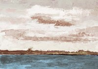 Cloudy Shores and Pink Skies Fine Art Print