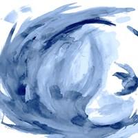 Blue Swirl Square II Fine Art Print
