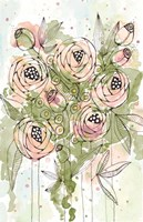 Blush and Green Floral Fine Art Print