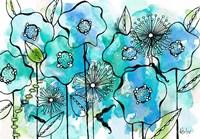 Blue Tone Garden Fine Art Print