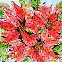 Vibrant Poinsettias I Fine Art Print
