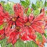 Vibrant Poinsettias II Fine Art Print