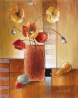 Afternoon Poppy Still Life I Fine Art Print