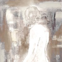 Neutral Figure on Abstract Square II Framed Print