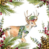 Holiday Deer Framed Print