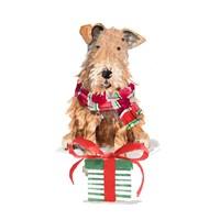 Christmas Airedale Terrier Fine Art Print