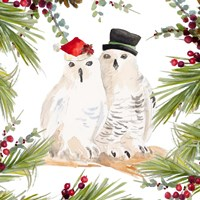 Holiday Owls Framed Print