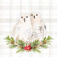Holiday Woodland Garland on Plaid IV Framed Print