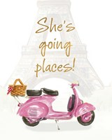 She's Going Places I Fine Art Print