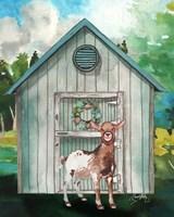 Goat Shed I Framed Print