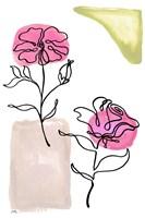 Modern Floral Line I Framed Print