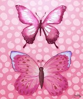 Butterfly Duo in Pink Framed Print