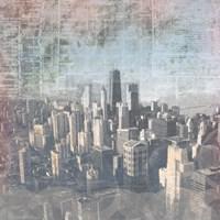 Chicago Skyline II Framed Print