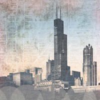 Chicago Skyline I Framed Print