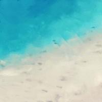 Ocean Blue Sea I Framed Print