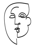 Linear Character I Framed Print