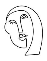 Linear Character II Framed Print
