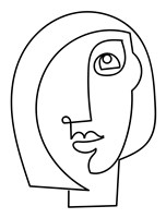 Loopy Line Lady I Fine Art Print