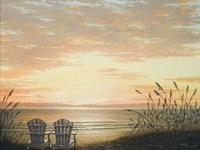 Sunset Chairs Fine Art Print