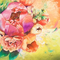 Beautiful Bouquet of Peonies I Framed Print