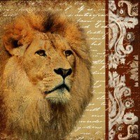 Safari Script I Fine Art Print