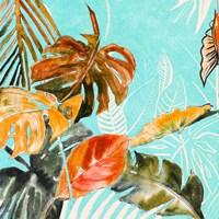 Palma Selvas on Blue II Framed Print