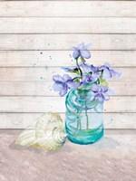 Fresh Flowers And Shells II Framed Print