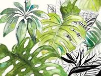 Green Palms Selva I Fine Art Print