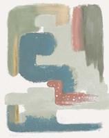 Maroon Bird Abstract Fine Art Print