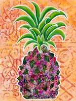 Pineapple Collage II Framed Print