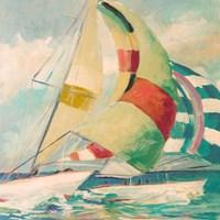 Calm Full Sail I Framed Print