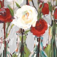 Red Romantic Blossoms II Fine Art Print
