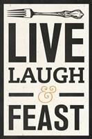 Live Laugh Fine Art Print