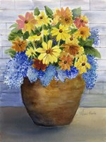 Yellow and Blue in Pot Fine Art Print
