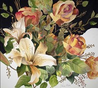 Roses and Lilies Fine Art Print