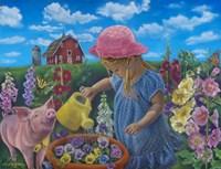 Little Gardener Fine Art Print
