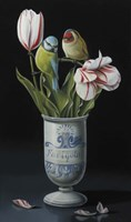 The Apothecary Vase And Tulips Fine Art Print